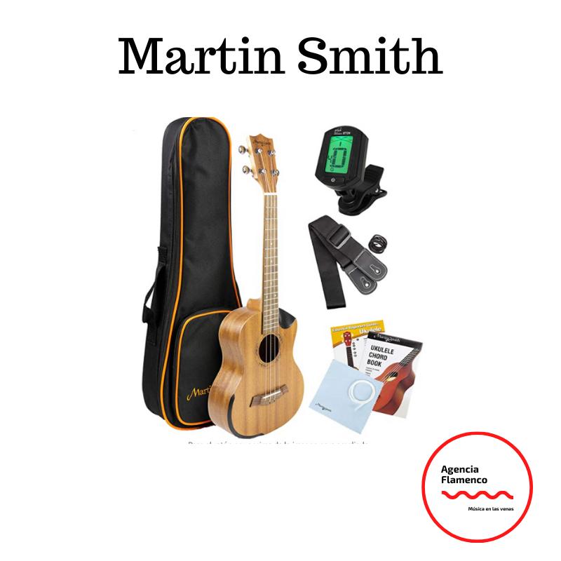 4 Martin Smith 26 pulgadas Reales Sapeli madera Ukulele