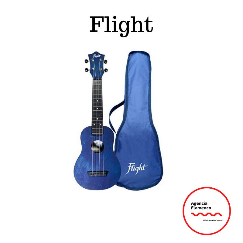 3 Flight. Ukelele soprano azul oscuro