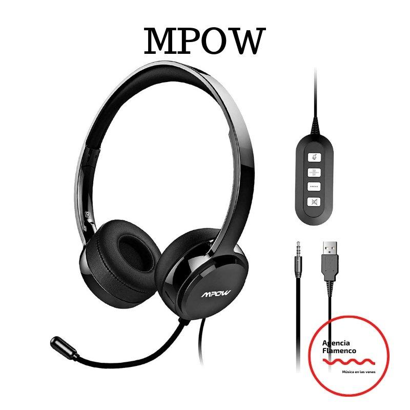 1 Mpow Auriculares Micrófono PC