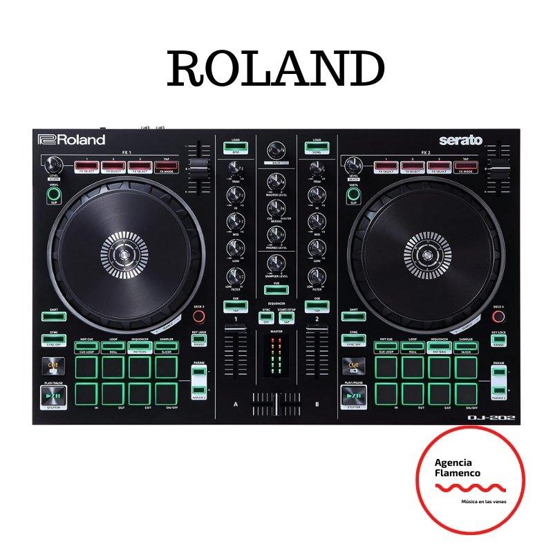 4. Roland DJ-202 - Controlador de DJ de 2 canales