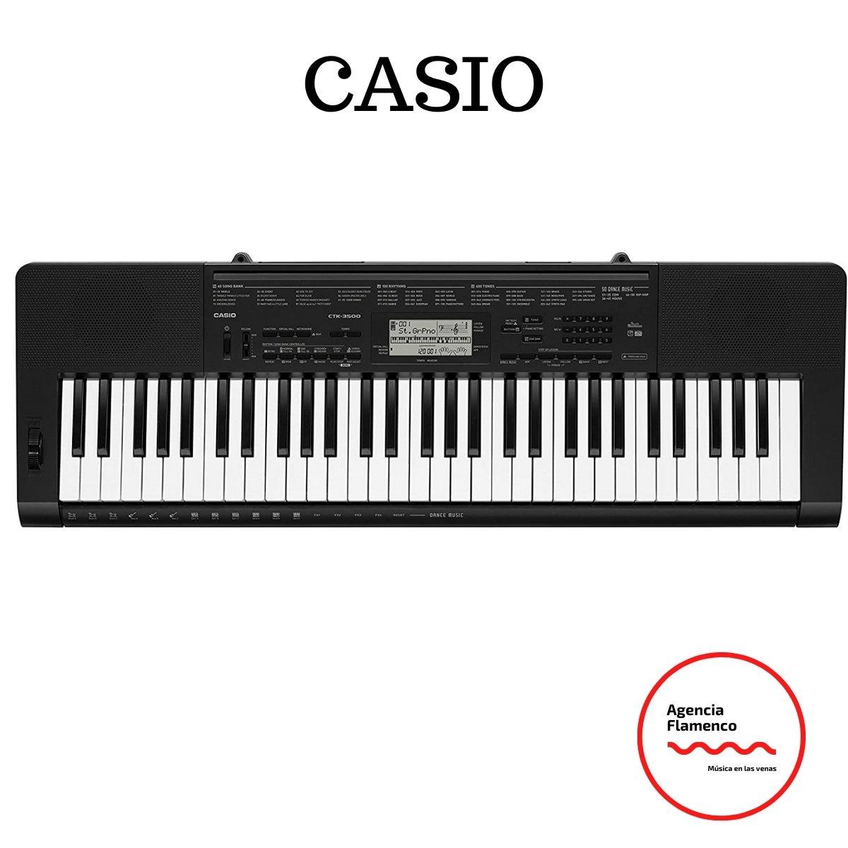 4. Casio CTK-3500 - Teclado digital, 61 teclas