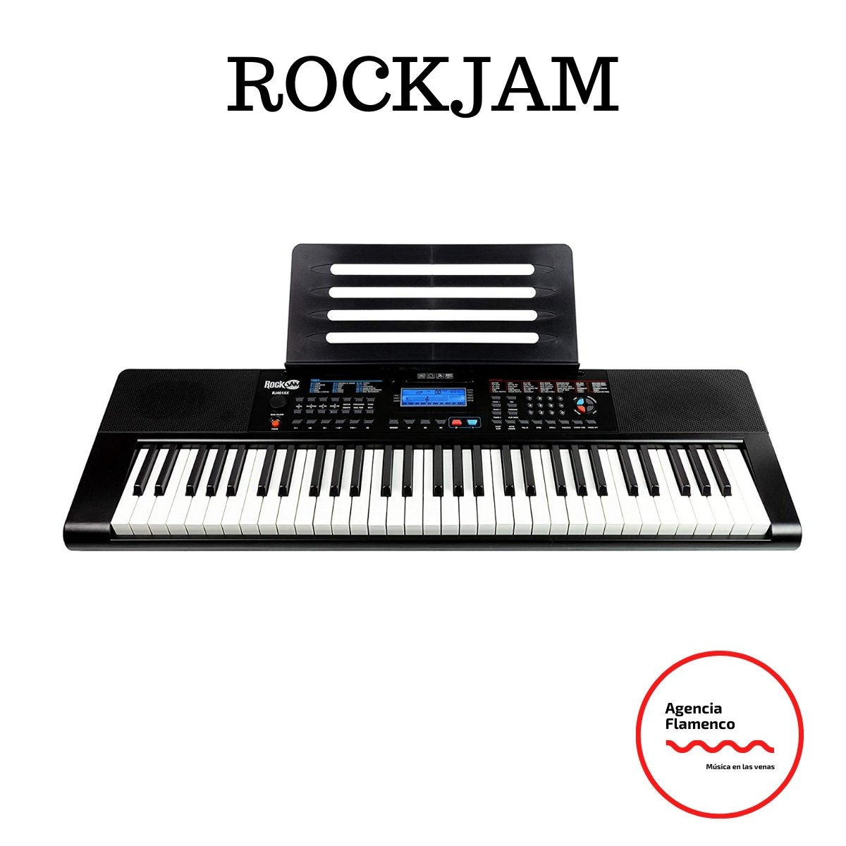 2. RockJam RJ461AX Teclado de piano digital portátil Alexa de 61 teclas