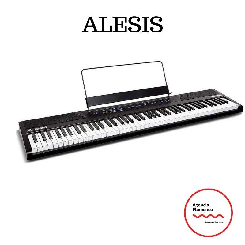 3 Alesis Recital - Teclado de Piano Digital Eléctrico con 88 Teclas