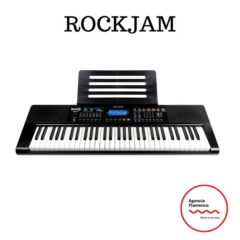 5 RockJam RJ461AX Teclado de piano digital portátil Alexa de 61 teclas