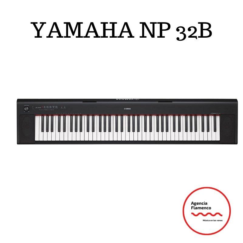 4. YAMAHA NP-32B - Teclado electrónico con 76 teclas