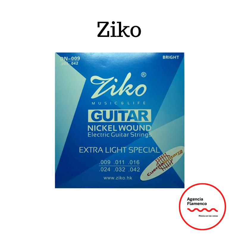 5. Pack de 2 Juegos de cuerdas marca Ziko para guitarra eléctrica