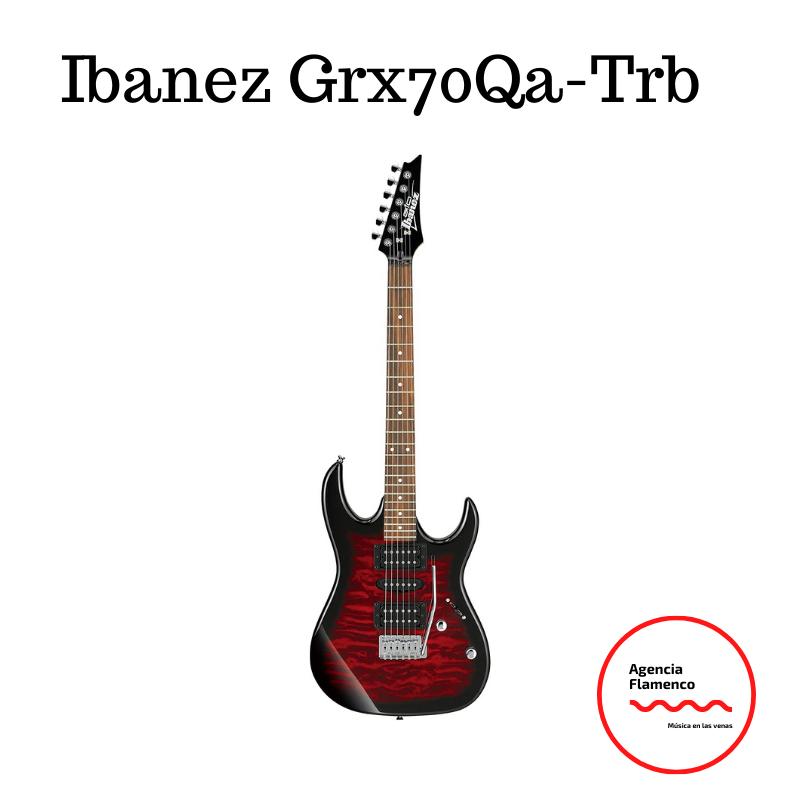 4. Guitarra eléctrica GRX700QA TRB marca Ibanez