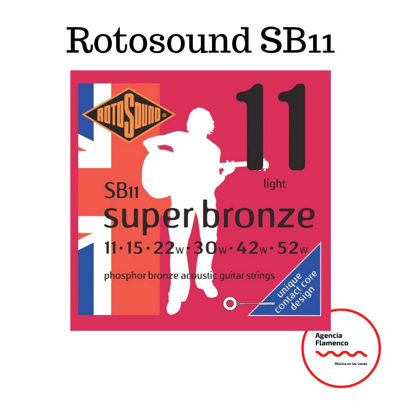2. Rotosound SB11 - Juego de cuerdas para guitarra acústica