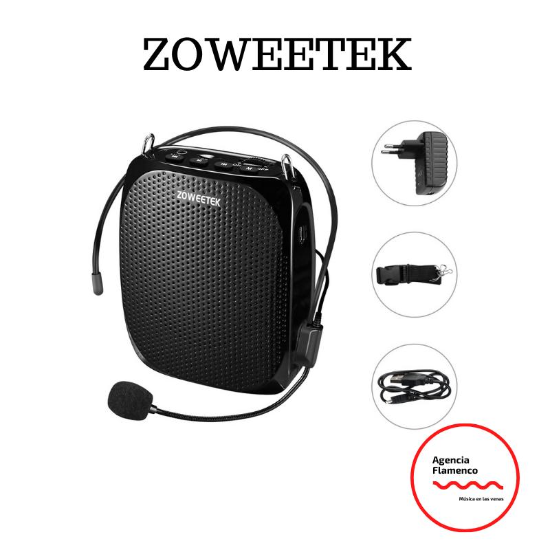 2. Amplificador de voz Zoweetek con 1800 mAh