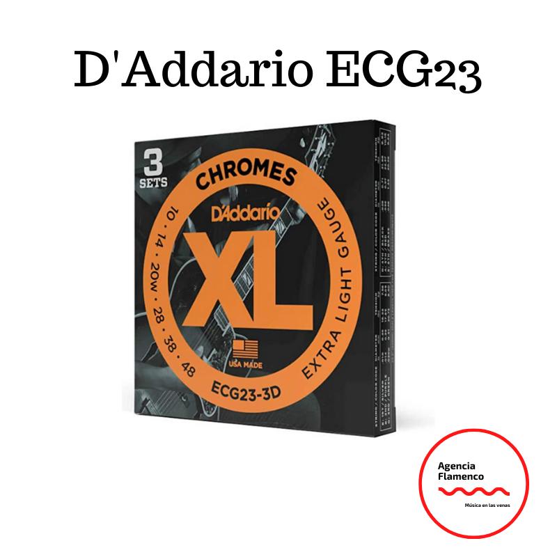 2. D'Addario ECG23 Cuerdas planas para guitarra eléctrica