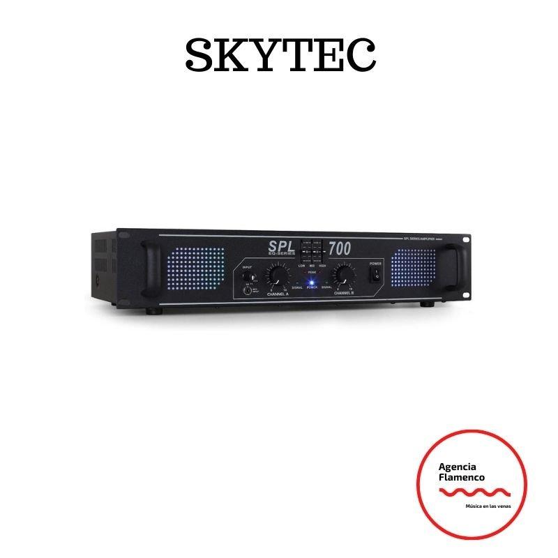 1. Amplificador Skytec SPL700 de sonido profesional