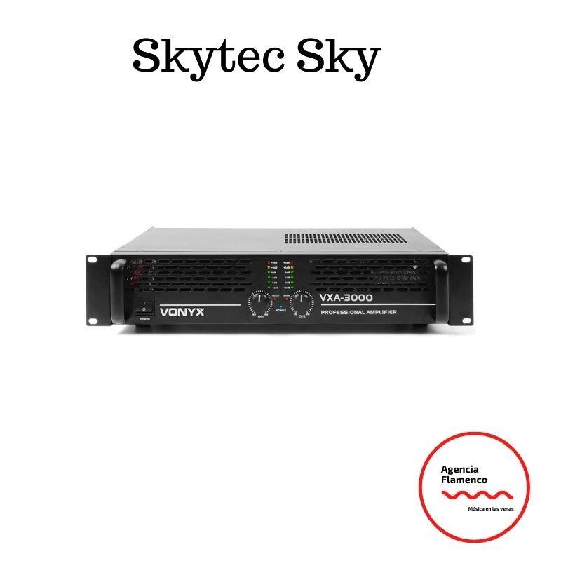 1. Skytec Sky-3000MKII Amplificador PA 3000W Puenteable