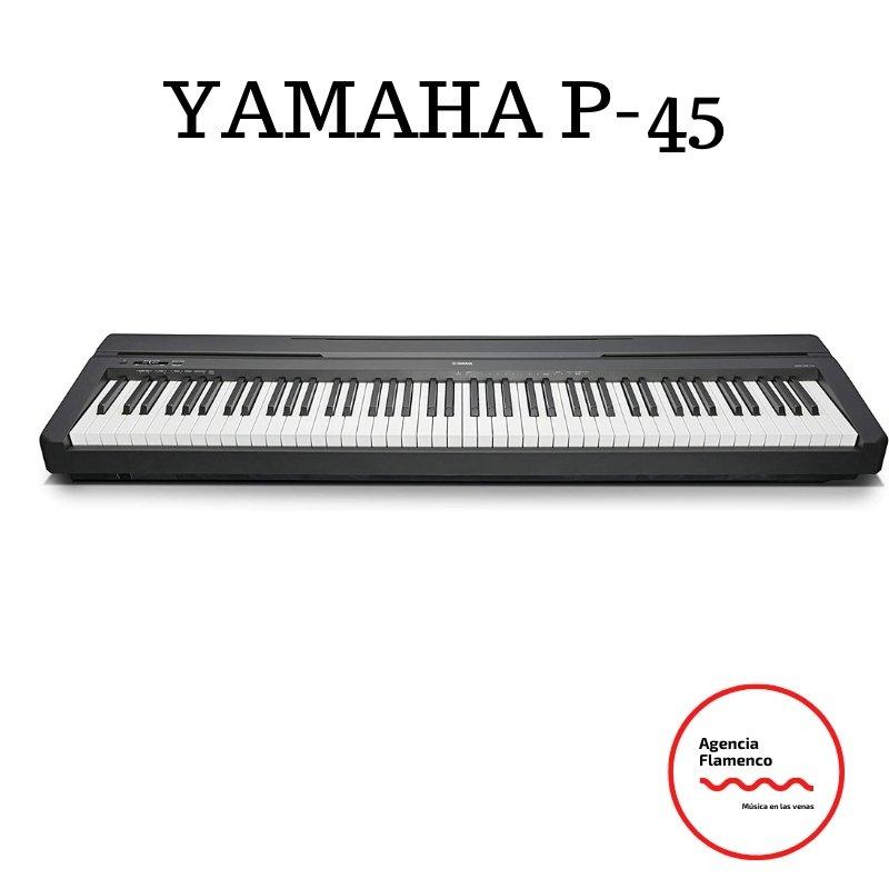 2. Yamaha P-45 - Piano digital ligero y portátil para aficionados y principiantes